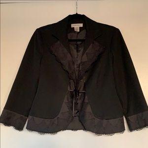 Black short Nine West Black Blazer, lace, size 6